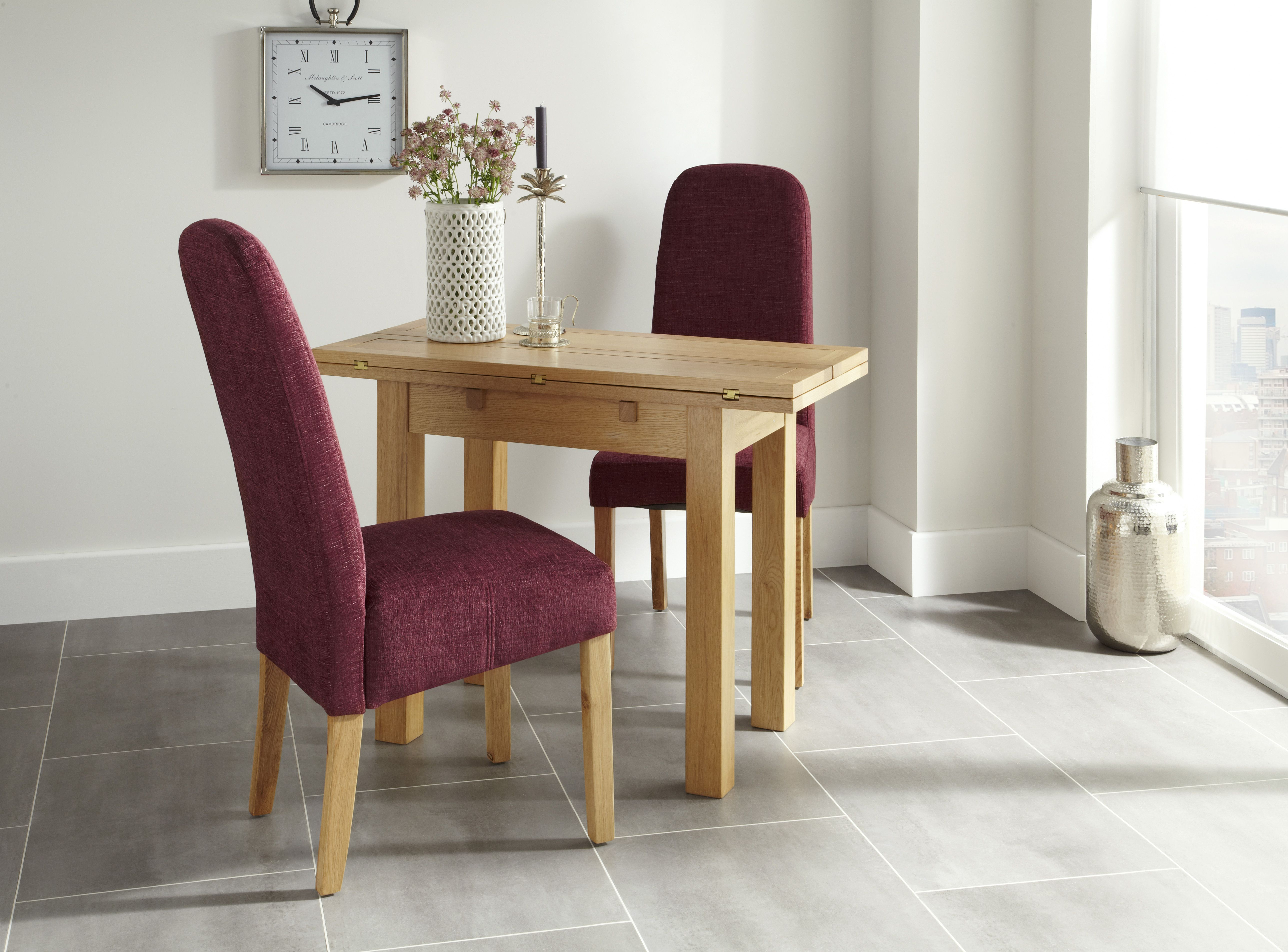 Neat and tidy dining chairs are always great when you have ...