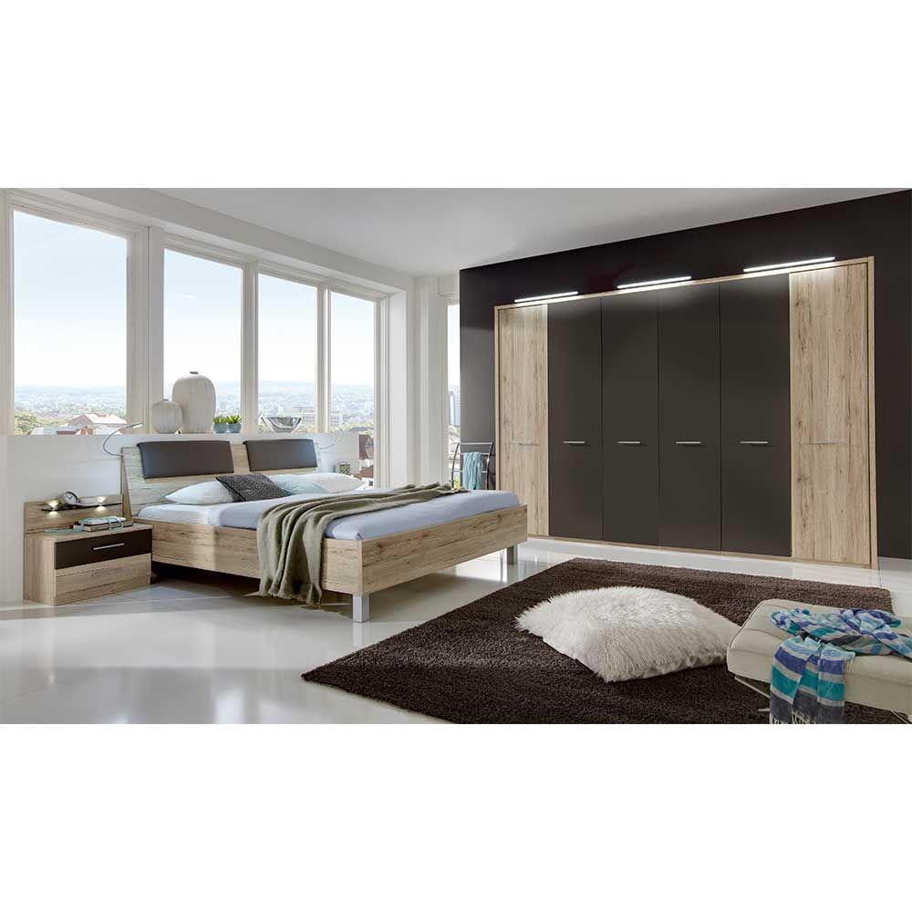Schlafzimmer Set in Eiche Braun modern (16-teilig) Jetzt bestellen
