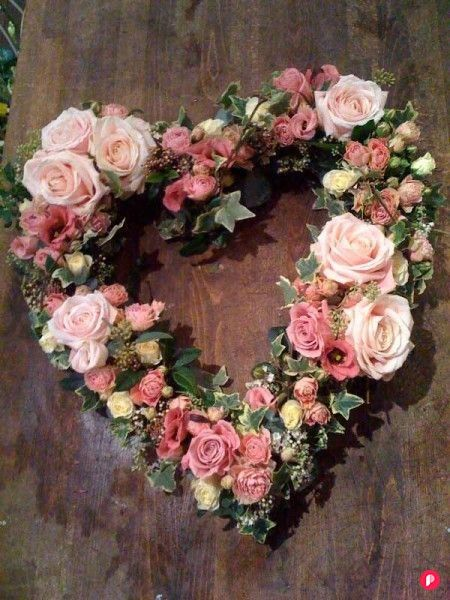 Party Flowers  Event Flowers  Amanda Austin A floral heart for Valentines Day