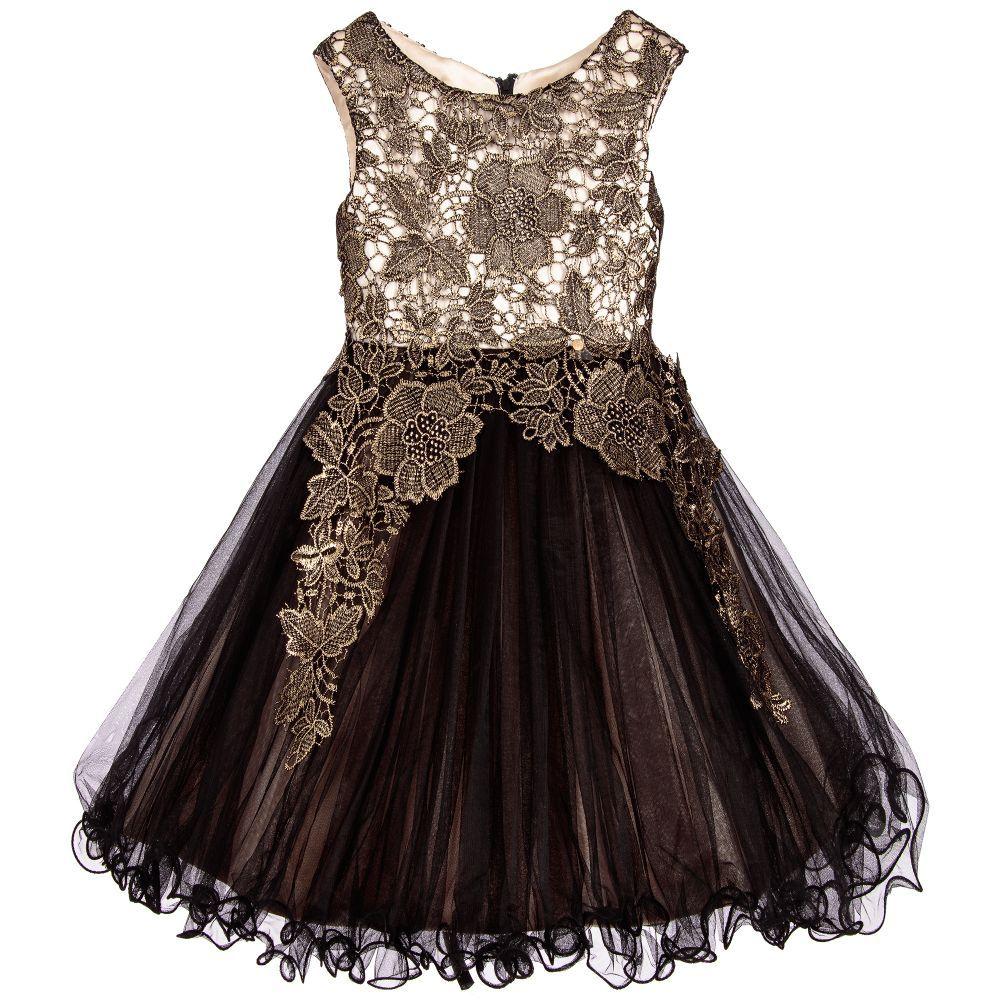 Girls black u gold lace dress gold lace dresses gold lace and