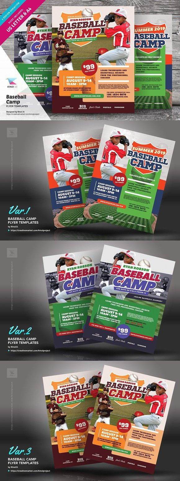 Baseball Camp Flyer Templates Flyer Template Baseball Camp Flyer