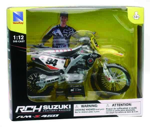 Auto, motor: onderdelen, accessoires Suzuki RMZ 450 Roczen Toy 1:12 Motocross NEW New Ray Model Motorbike Motorcycle
