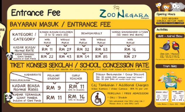 Zoo Negara Harga Tiket 2017