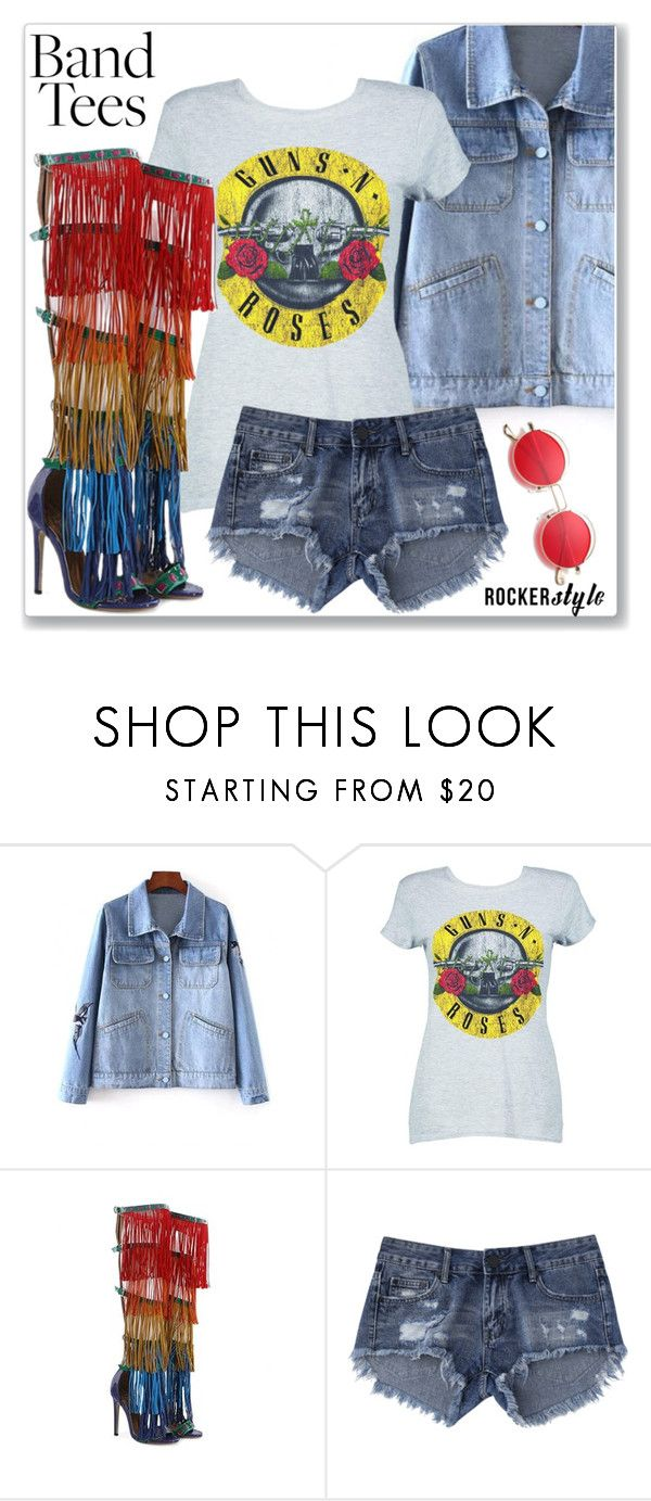"""Band T-Shirt (Street Style)"" by jecakns ❤ liked on Polyvore featuring Boohoo"