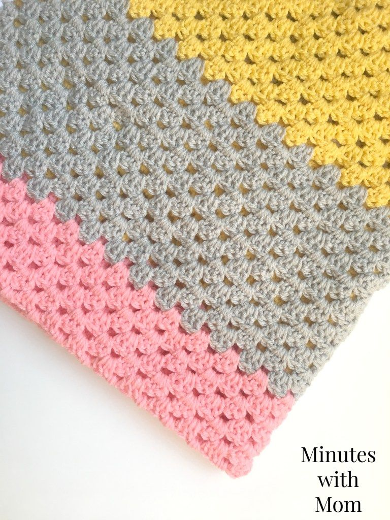 Color block granny stripe blanket with free pattern free color block granny stripe blanket with free pattern bankloansurffo Image collections
