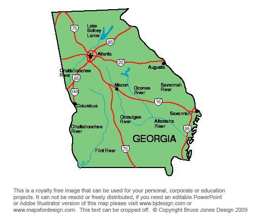 Google Clipart Atlanta Georgia Printable Pictures Taken Of - Georgia us state map