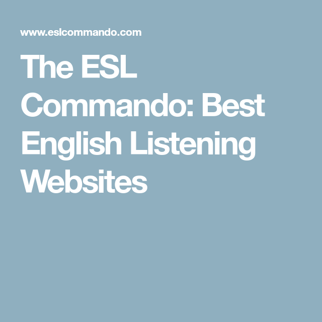 english websites