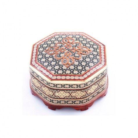 جعبه جواهرات چوبی معرق