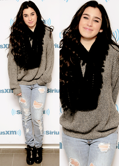 Lauren at the SiriusXM Studios