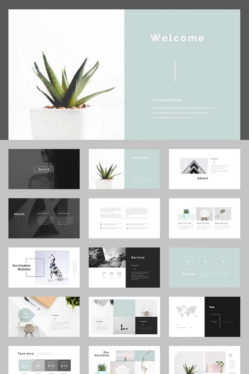 multipurpose powerpoint template  74857