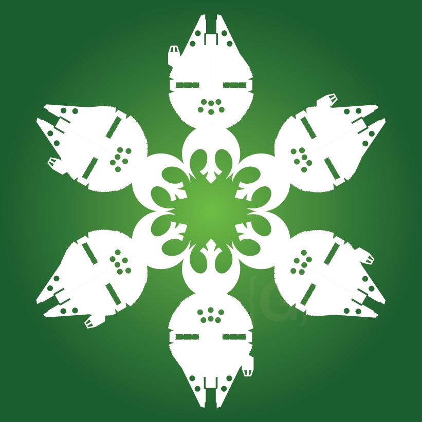 DIY Star Wars Snowflakes - TONS of Star Wars templates! | Geeking ...
