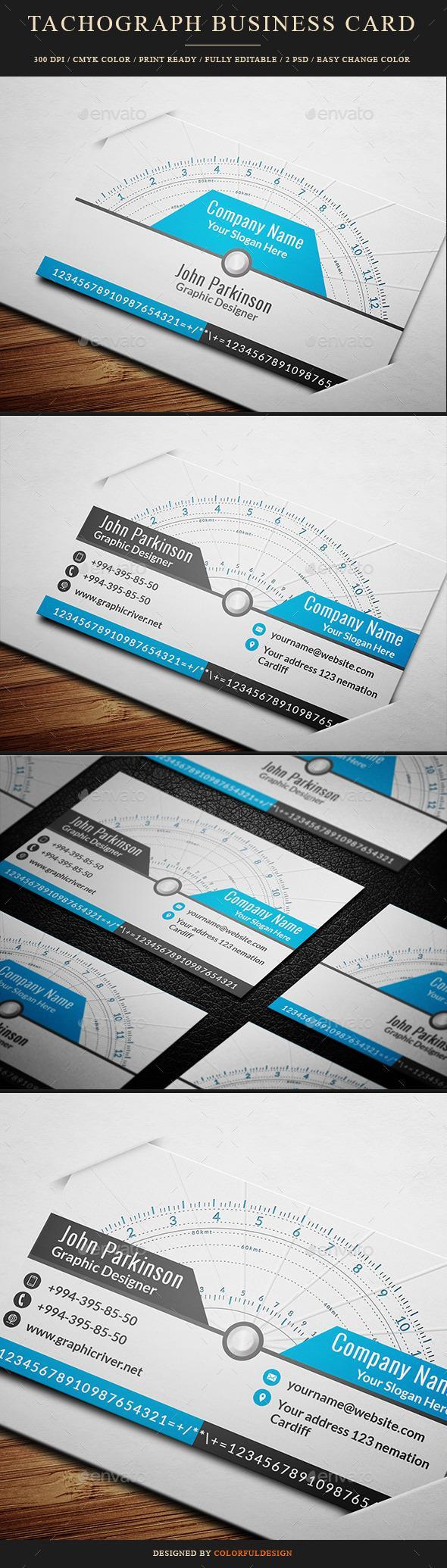 Tachograph Business Card Unique Business Cards Design Free Business Card Templates Business Card Template Design