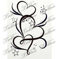 Photo of Bildergebnis für heart and little hearts tattoo behind ear