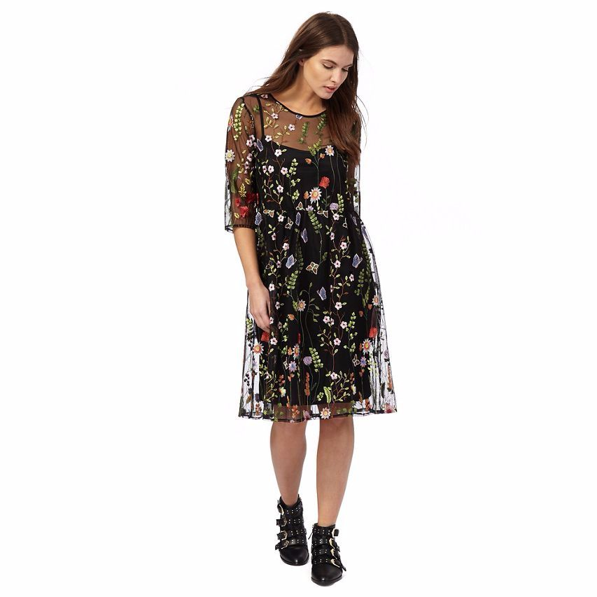 c417dd0405d Red Herring Multi-Coloured Embroidered Tea Dress Size 16 rrp 59 LF079 PP 11   fashion  clothing  shoes  accessories  womensclothing  dresses (ebay link)