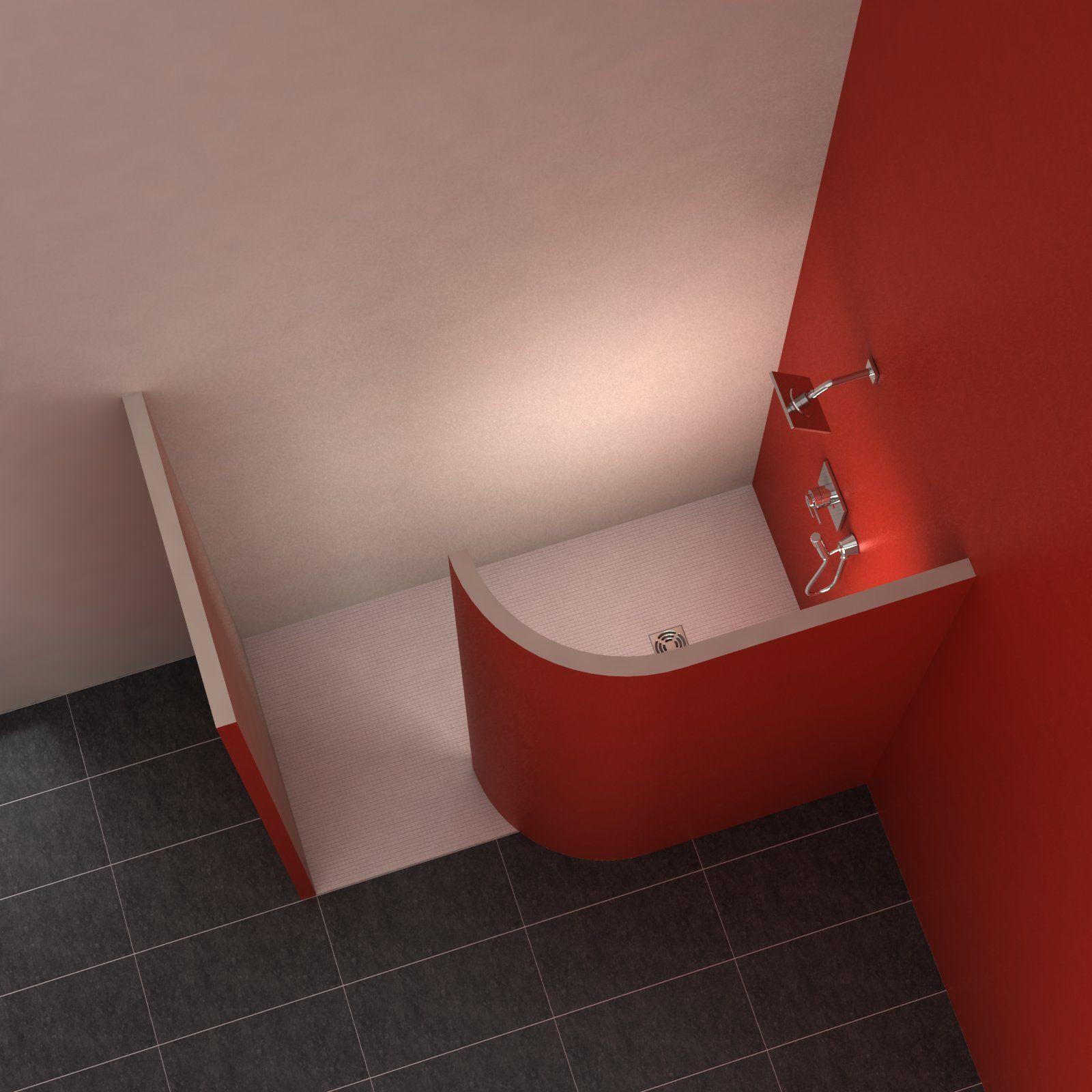 Walk-In 9 9x190 cm  Kleines badezimmer umgestalten, Gemauerte