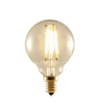 2 Watt 25 Watt G 16 Globe Shape Candelabra Base E 12 Antique Style Filament Bulb Antique Finish For Authentic Vintage Feel With Very Warm 2 Globe Light Bulbs
