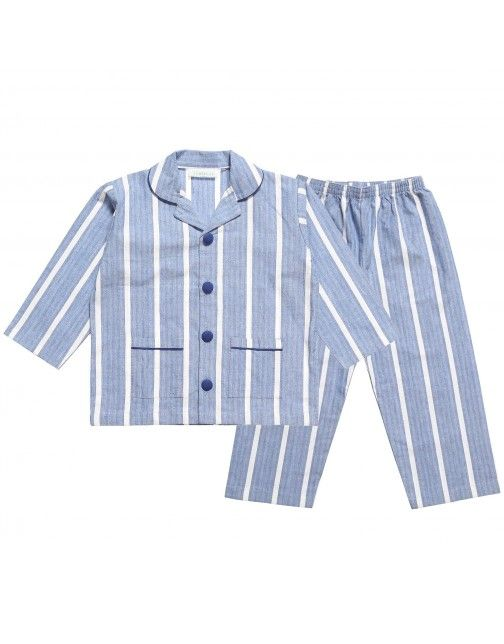 f9a4e3c15824 Boys Blue Cotton  Parry  Pyjamas