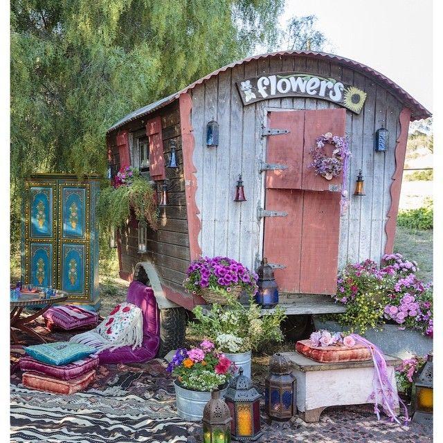 Bohemian Inspired California Wedding At Holly Farm: Fifi - Gypsy Style Weddings