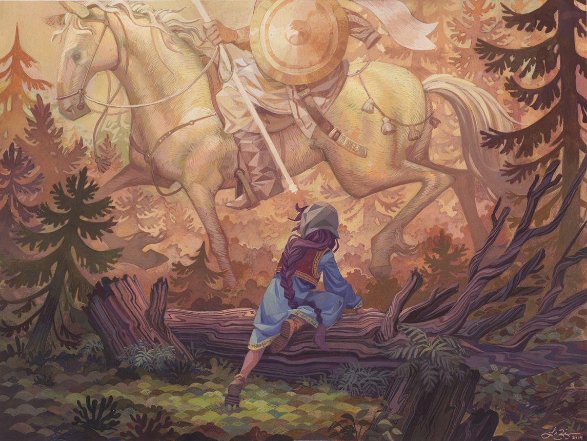 Vasilisa Encounters the White Horseman by Laura Bitano