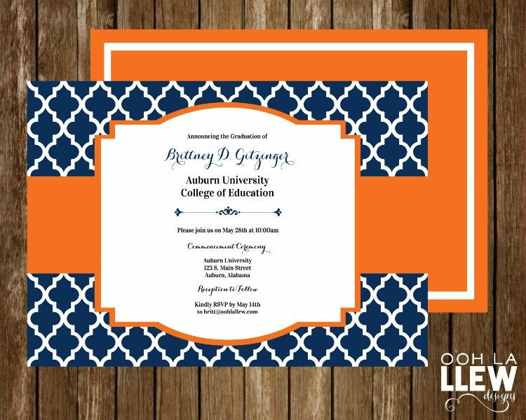 auburn university graduation announcement and invitation by