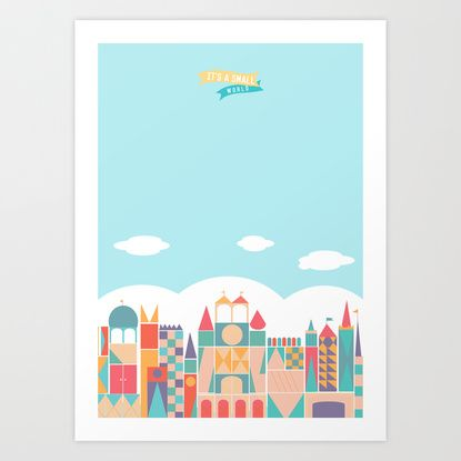 It's a small world Art Print by Tea'n't | Society6