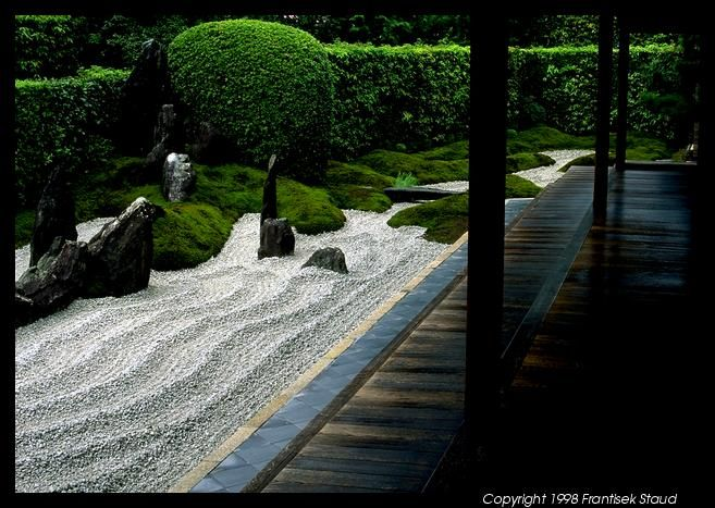 Rock garden in Zuiho-in Temple, Kyoto