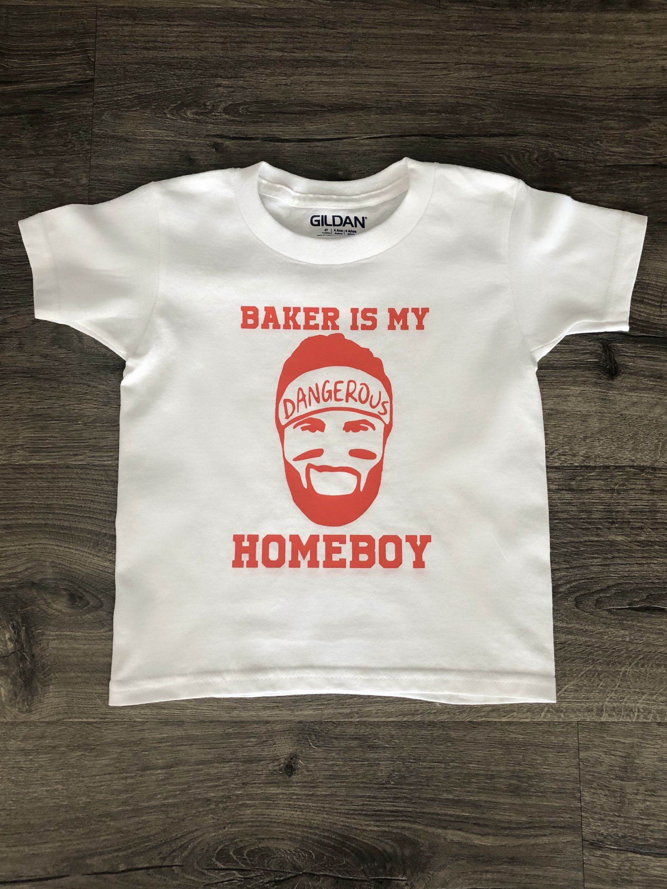 reputable site b51d3 a40d5 Toddler t-shirt, Baker Mayfield is my homeboy, charcoal gray ...