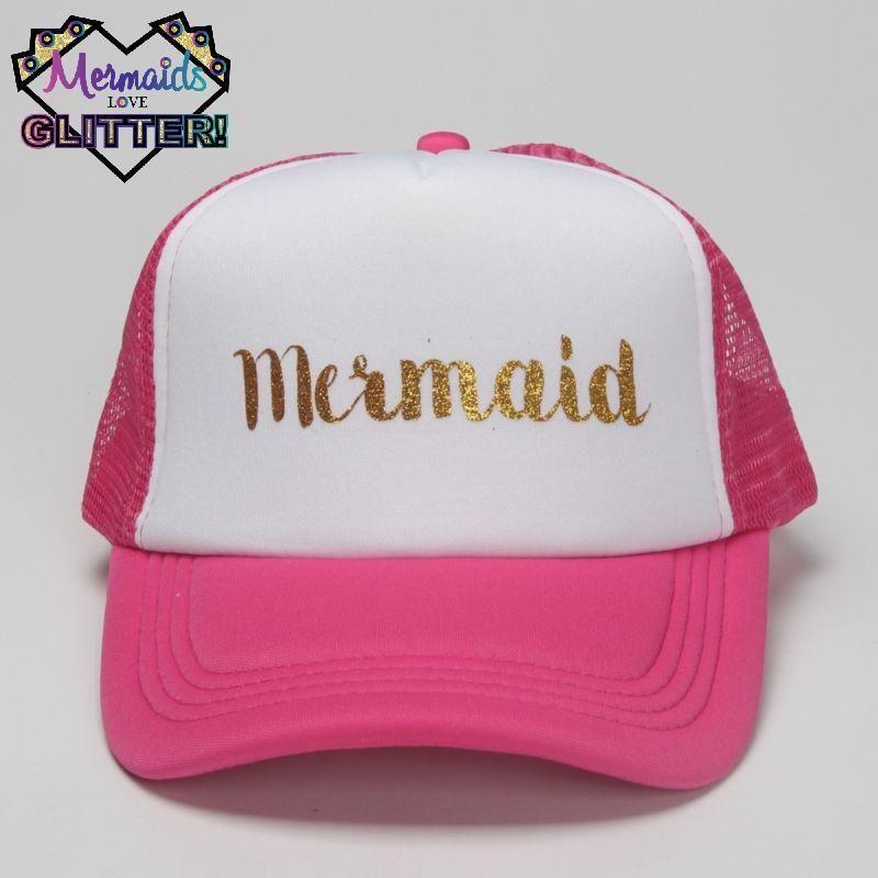 Mermaid Glitter Surfer Trucker Baseball Cap Snapback Hat Party Pink Beach Ebay Diy Buynow