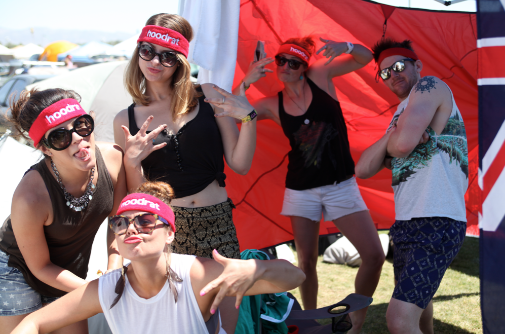HBSuper hoodrat fans at Coachella campgrounds!
