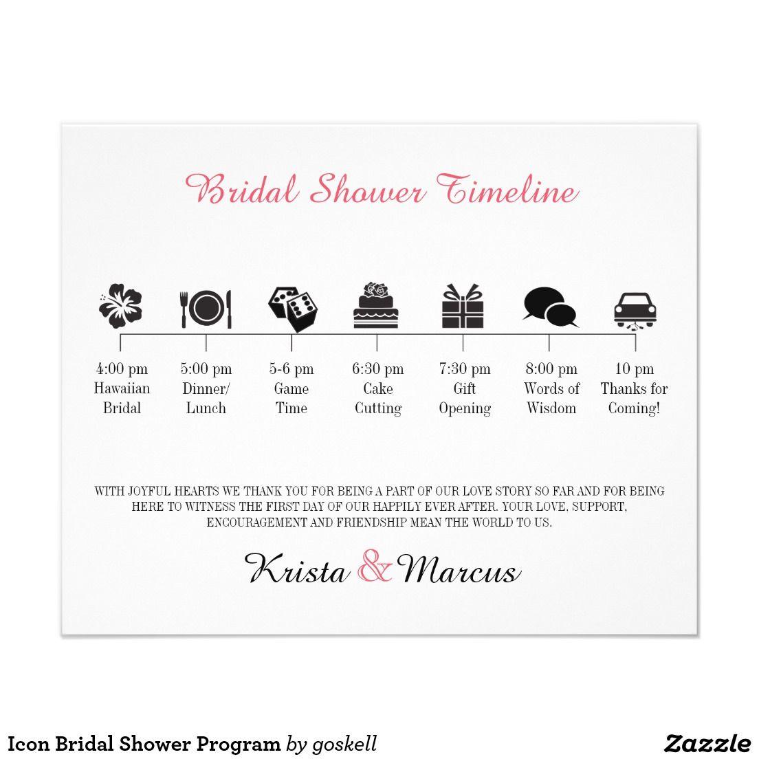 icon bridal shower program 45 x 56 flyer