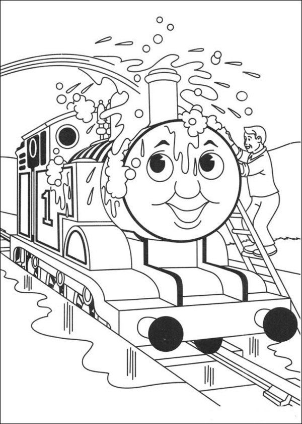 Thomas The Tank Engine Coloring Pages 4 Coloring Kids Train Coloring Pages Cartoon Coloring Pages Coloring Pages For Kids