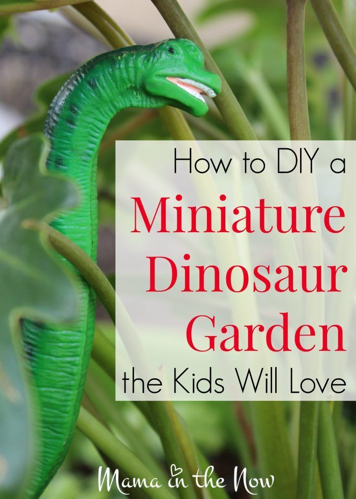 How to DIY a miniature dinosaur garden the kids will love. This is a great fairy garden substitute. Parenting win from a mother of