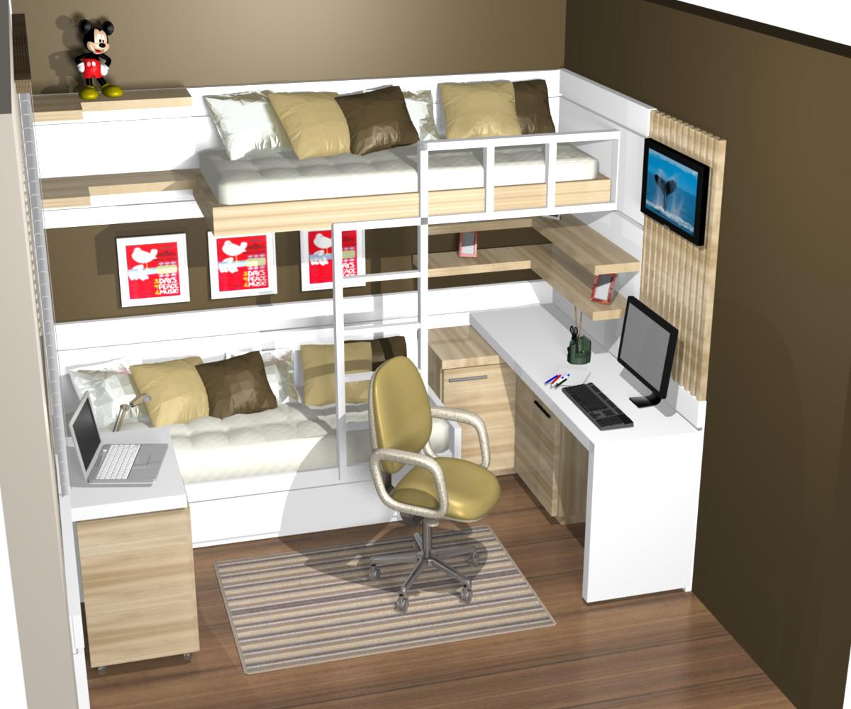 1 a moveis planejado quarto quartos dormitorios meninos for Dormitorio para quarto pequeno
