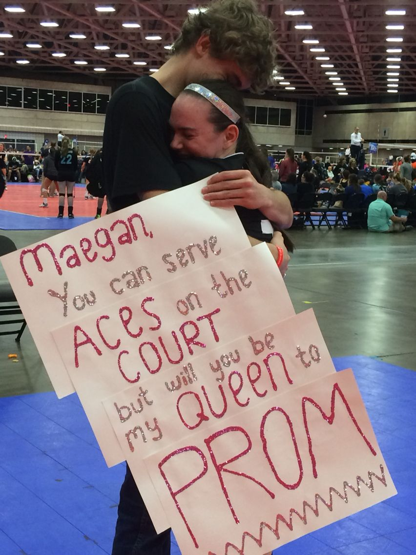 My amazing volleyball promposal | Volleyball | Pinterest ...