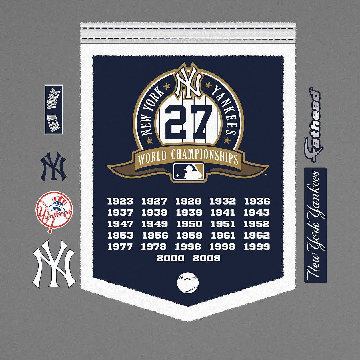 Fathead Mlb New York Yankees World Series Championship Banner Wall Decal Yankees World Series Wall Decals Yankees
