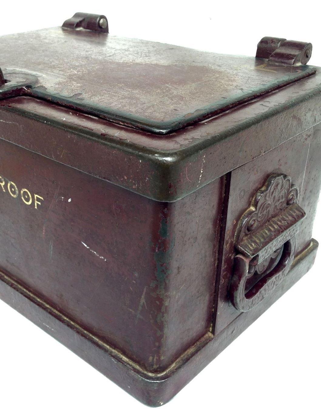 antique wells fargo stagecoach cast iron strong box safe bank