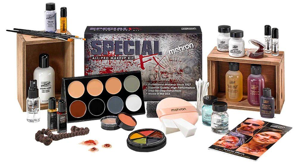 Special Effects Makeup Classes With Kit Special Fx School In 2020 Makeup Kit Fx Makeup Kit Mehron Makeup