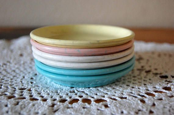 Vintage Imperial Ware Melmac Butter Pats Vintage Butter Pats Vintage Imperial Ware Plates Coasters Nut Dish from The Eclectic Interior & Vintage Imperial Ware Melmac Butter Pats Vintage Butter Pats | The ...