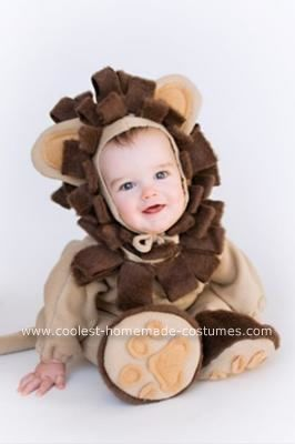 baby lion halloween costume. this was home made? are you kidding me? ugh i wish i could use a sewing machine lol  sc 1 st  Pinterest & Coolest Homemade Lion Costume | Pinterest | Lion halloween costume ...