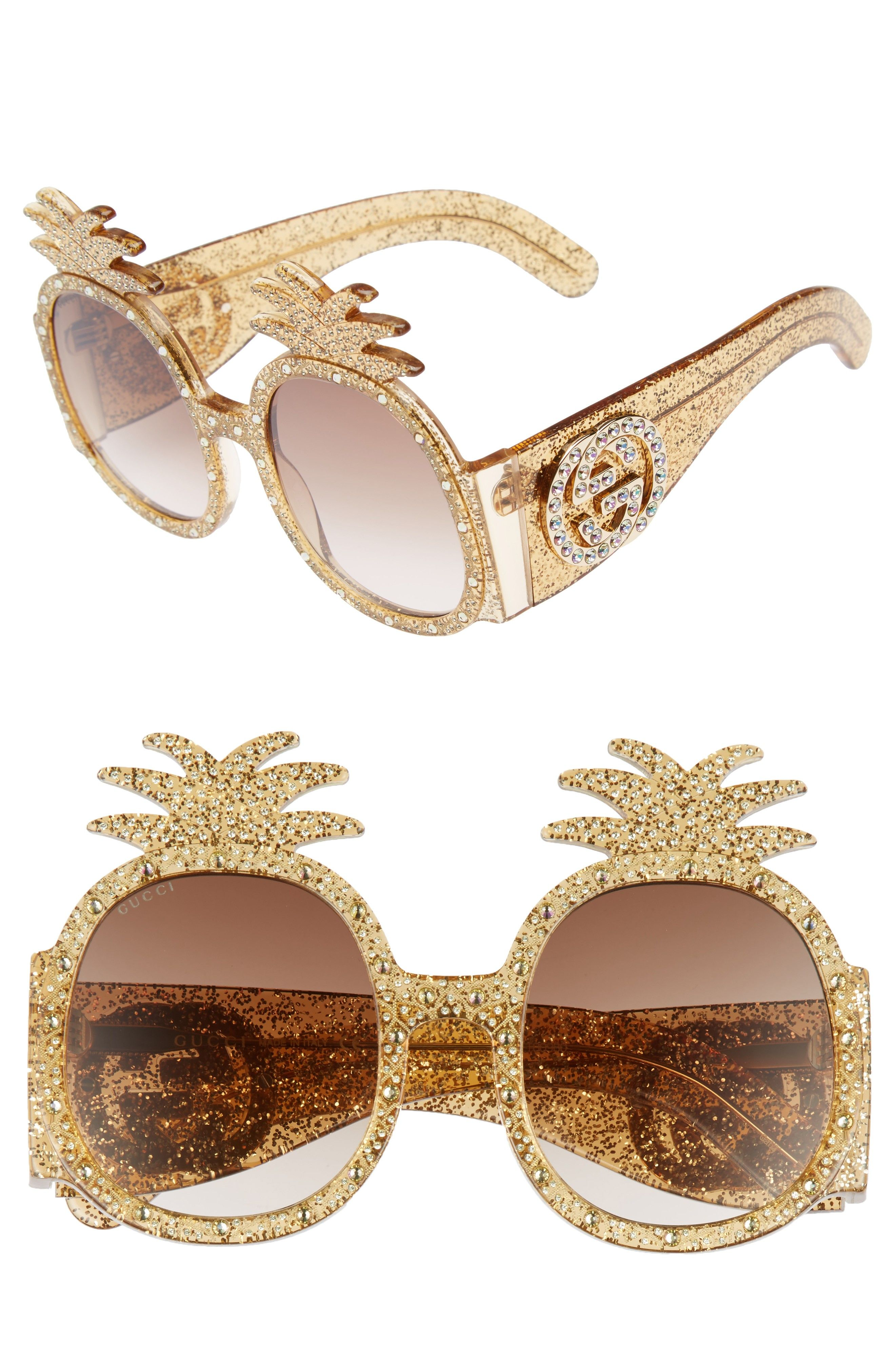 Gold Gucci Pineapple Sunglasses | Clothes | Pinterest