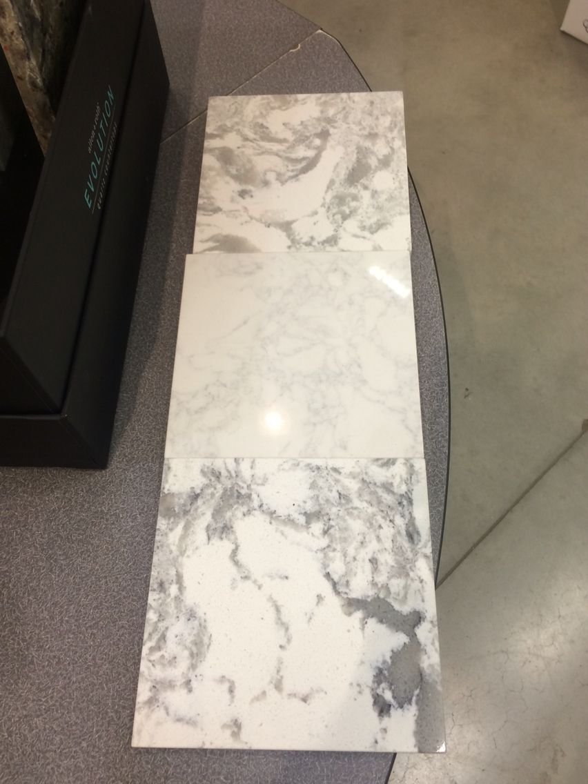 Allen And Roth Revolution Quartz Countertops At Lowes   Top To Bottom: Salt  Stone