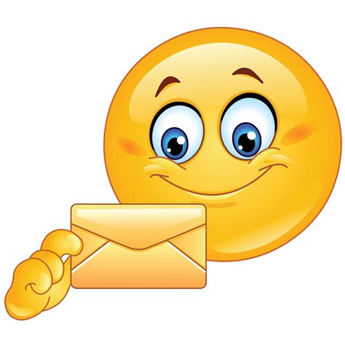 Smiley Holding an Envelope Emoticon, Smiley, Smiley emoji