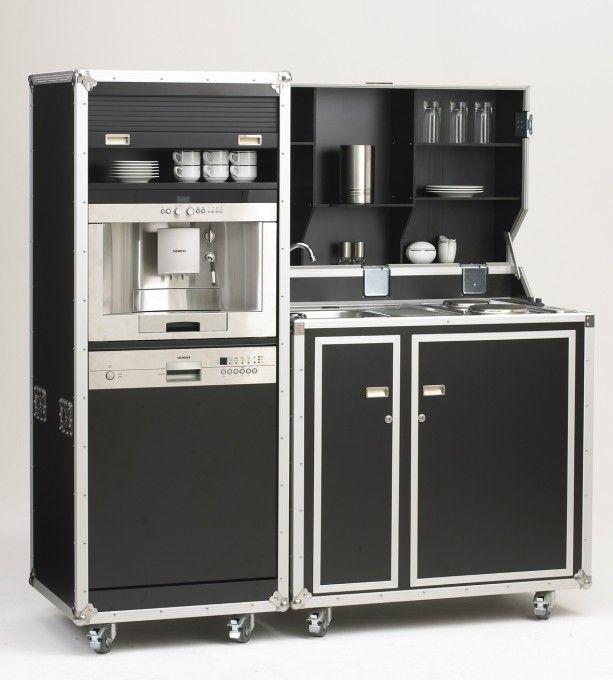 pro-art kitcase Kofferküche mit Kühlschrank | Mobile Küchen ... | {Miniküchen 26}
