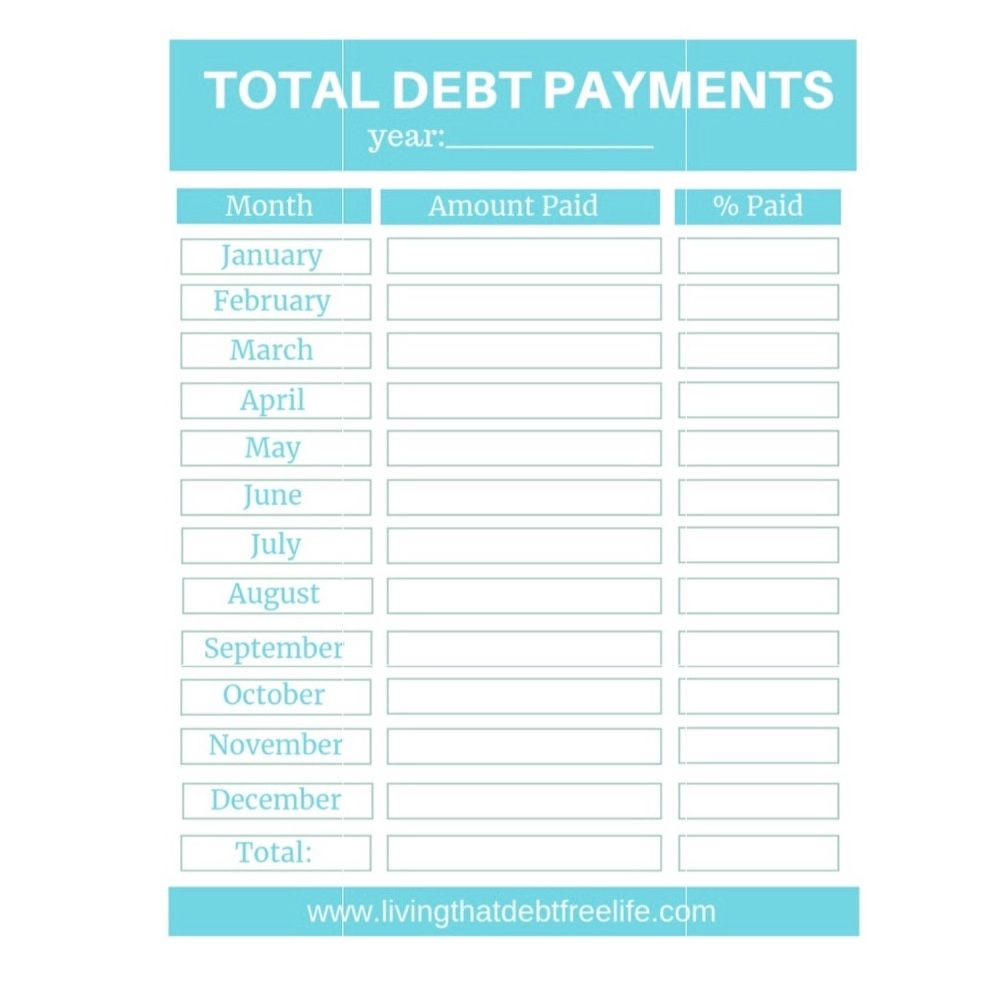 picture about Debt Tracker Printable identify Annually Financial debt Cost Tracker - Aqua Great of That Financial debt Totally free
