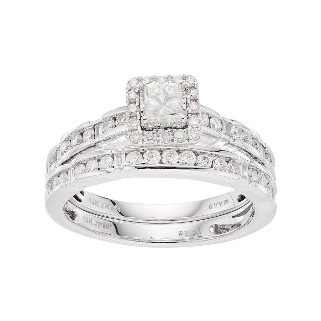 Simply Vera Vera Wang 14k White Gold 1 Carat T W Diamond Square