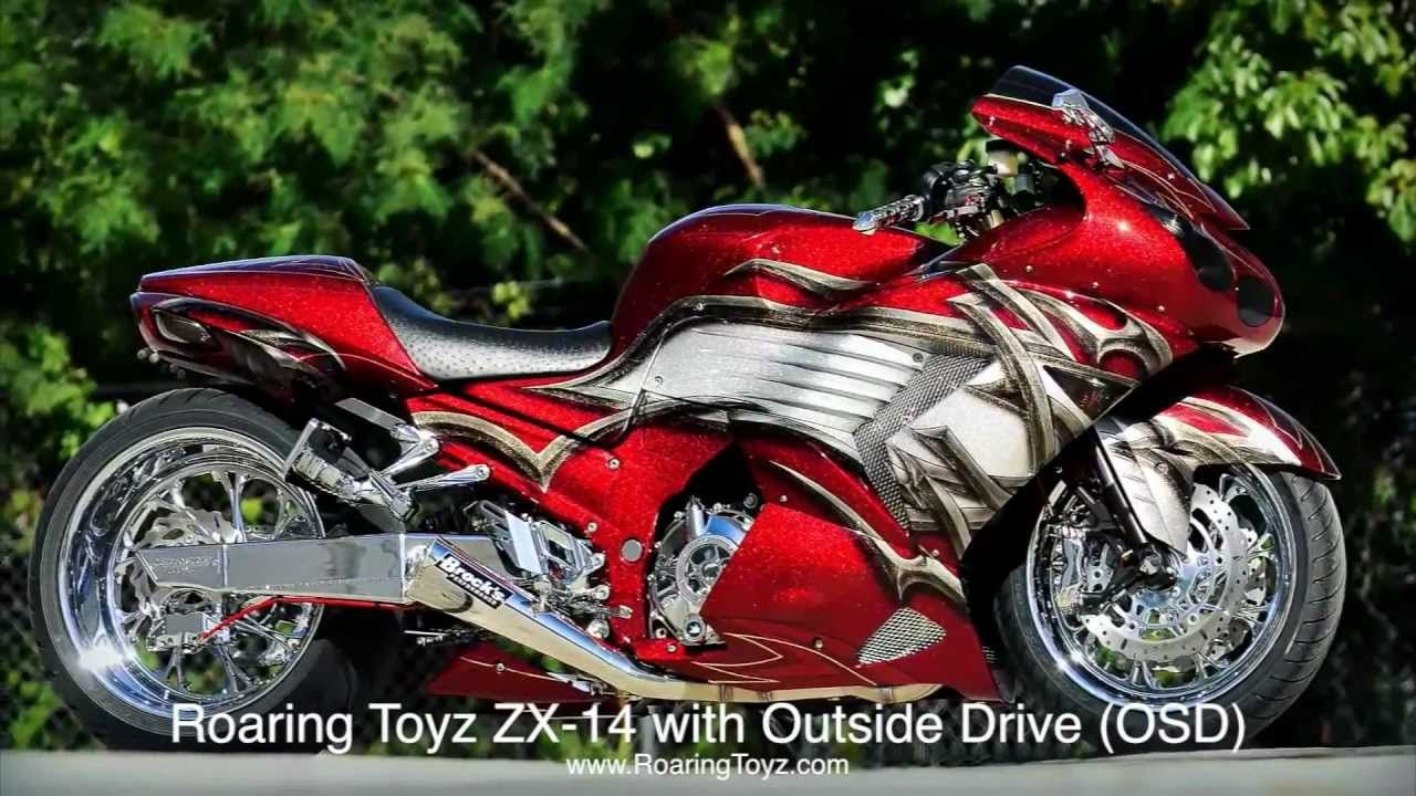 roaring toyz custom kawasaki zx14 with outside drive (osd