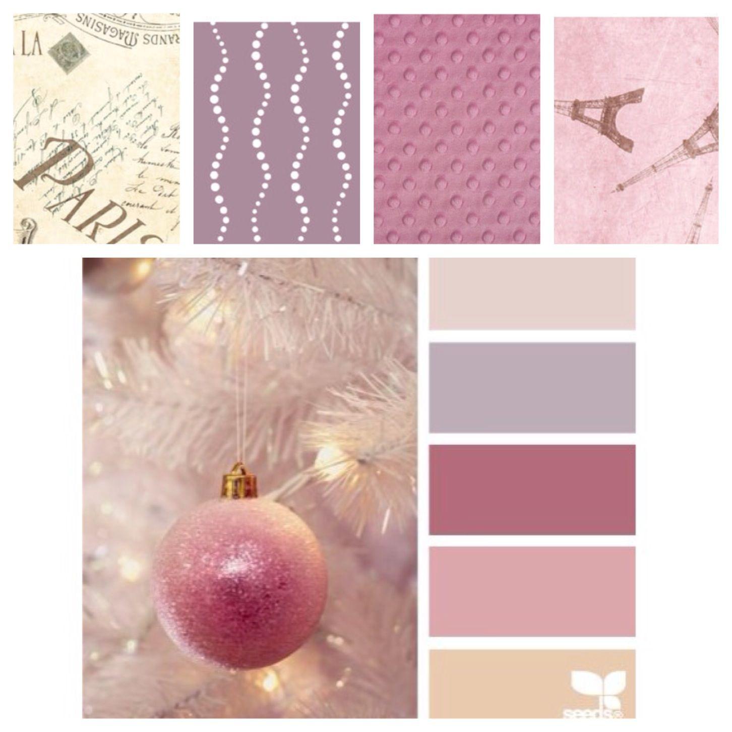 Nursery Color Scheme Pinks Purples Creams Beautiful Baby Girlnursery