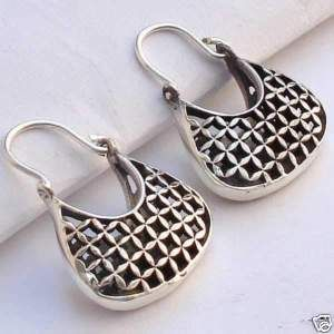 Sterling Silver Purse Earrings.  Up for auction Wednesday night.