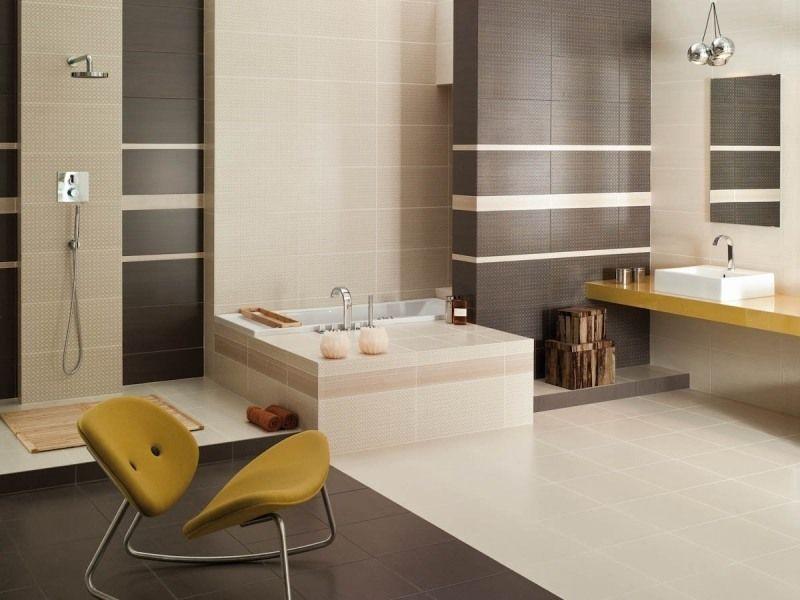Salle de bain beige id es de carrelage meubles et d co for Salle de bain carrelage gris et beige