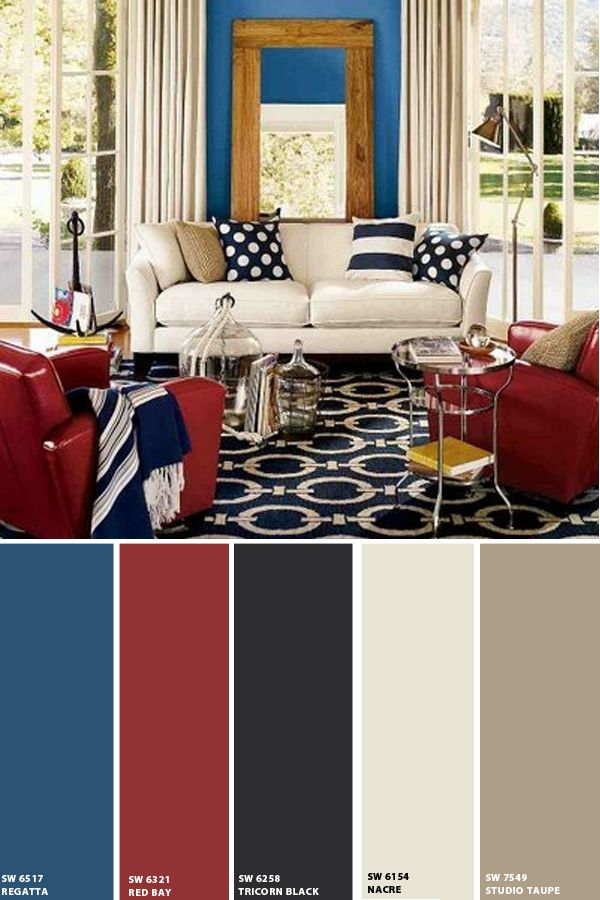 Contemporary Uses For Red White And Blue Living Room Red Home Room Design Blue Living Room